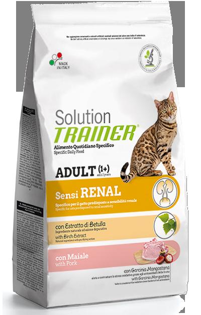 Сухой корм для взрослых кошек Трейнер Сенсиренал, при болезнях почек (Trainer Solution Sensirenal), 1.5 кг